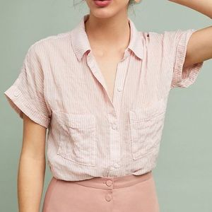 Anthropologie cloth and stone collared shirt